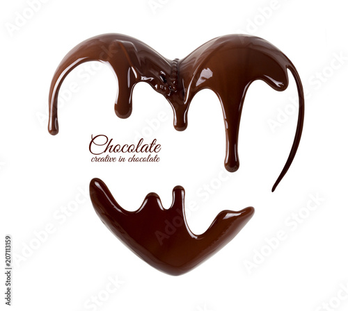 Valokuvatapetti Chocolate in the form of heart