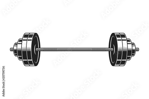 Vintage barbell for bodybuilding icon Canvas Print