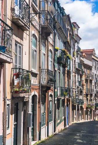 Poster Havana View of the historical area and buildings in Bairro Alto Portugal
