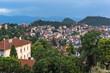 Amazing Night Panorama to City of Plovdiv from Nebet Tepe hill, Bulgaria