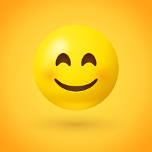 A Smiling Face Emoji With Smil...