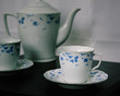 Tea Cup & Saucer With Blue Flowers