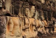 Woman Sculpture In A Row, Terr...