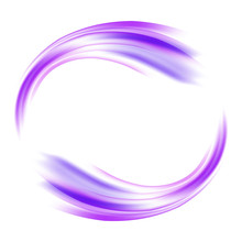 Vector Circle Of Purple Waves....