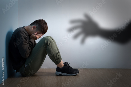Fototapeta man with sexual harassment obraz