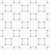 Seamless monochrome minimalistic square pattern. - 207130312