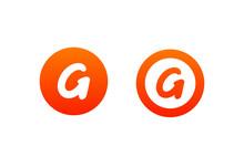 Letter G Logo Design In Orange...