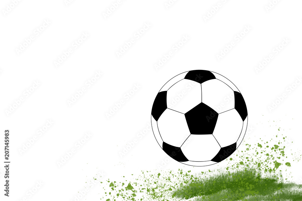 Photo Art Print Football Symbol Soccer With Gr Ilration Template Europosters
