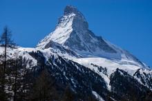 View Of The Matterhorn Classic Blue Sky