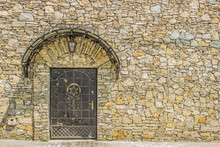 Jewish Door In Old Stone Wall ...
