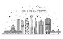 San Francisco City Skyline Vec...