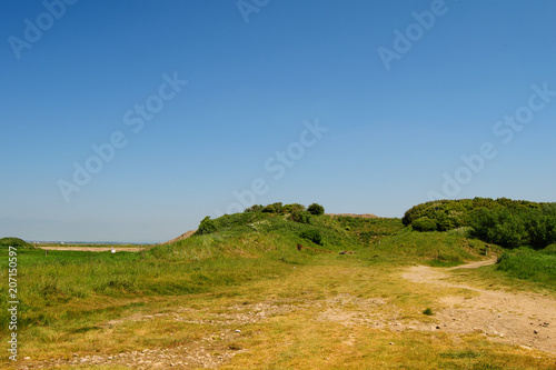 Foto op Canvas Blauwe jeans Dunes, sunny summer day. Countryside landscape