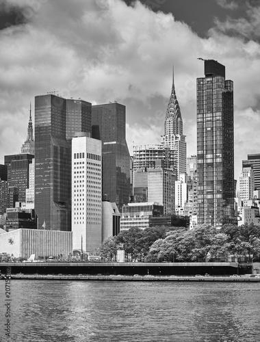 Foto op Plexiglas New York City New York City skyline, view from the Roosevelt Island, USA.