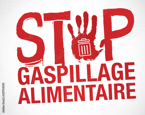Fotomural  gaspillage alimentaire