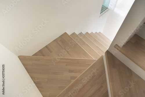 Papiers peints Escalier Pattern of Wooden stairs.