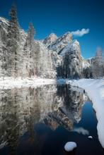 Merced River And Winter Landsc...