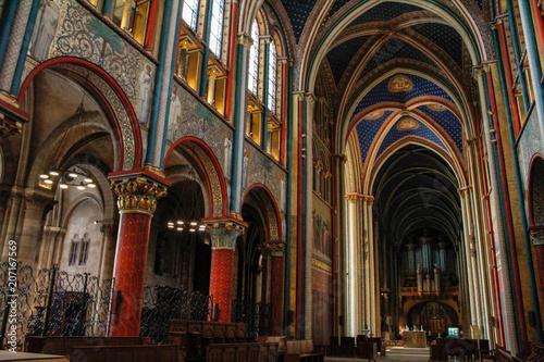 Coloured vaults of Saint-Germain-des-Prés Paris Poster