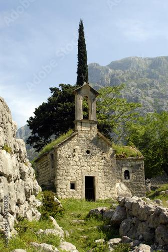 Spoed Foto op Canvas Natuur St. George's church in Kotor