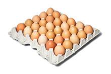 Chicken Eggs In The Cardboard ...