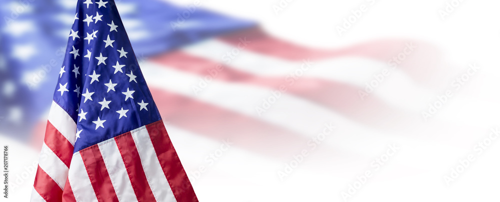 Fototapety, obrazy: USA or American flag background with copy space
