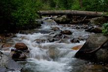 Running River In Colorado Over Rocks