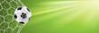 Fußball Hintergrund mit Fußball im Tor Netz