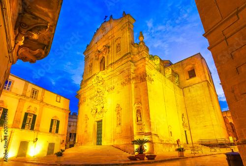 Fotografía Martina Franca, Puglia, Italy: Piazza del Plebiscito with Saint Martin Basilica