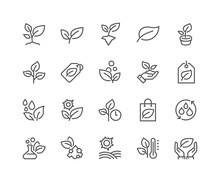 Simple Set Of Plants Related V...