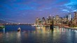 4k hyperlapse video of Manhattan skyline and Brooklyn Bridge
