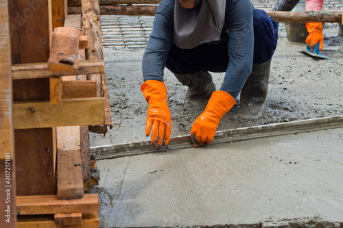 Fototapety, obrazy: building house, worker, construction irons for building, concrete and equipment