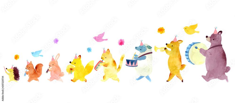 Zwierzęca piszczałka i bęben ilustracja <span>plik: #207220734 | autor: Ribonca</span>