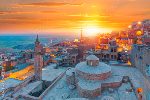 Printed kitchen splashbacks Turkey Mardin old town at dusk - Turkey