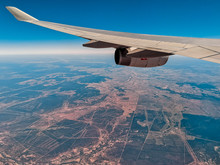 Aerial View From An Airplane W...