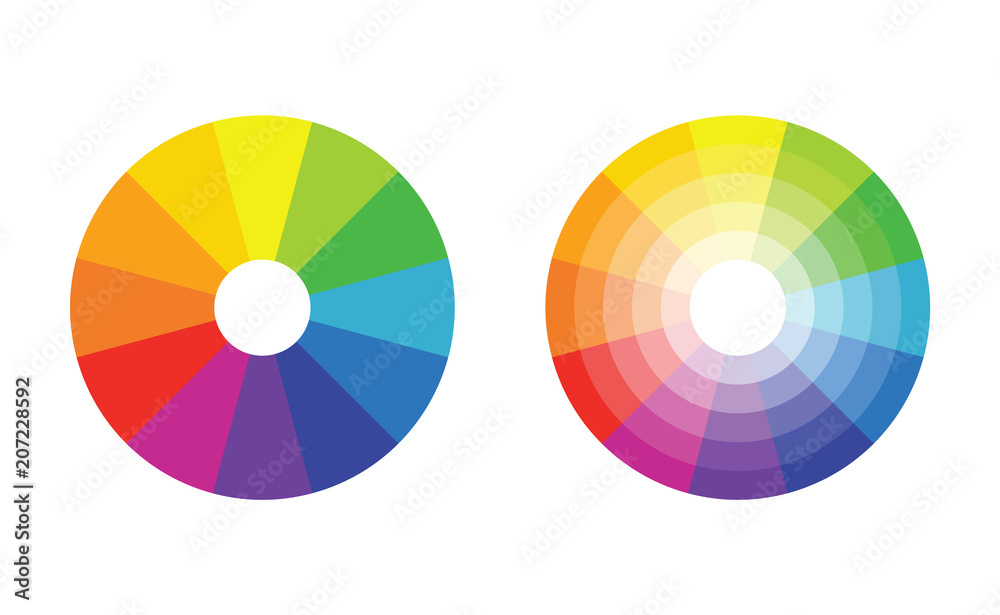 Fototapety, obrazy: color wheel with 12 colors in gradiation