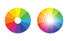 Color Wheel With 12 Colors In Gradiation