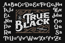 Bold Rough Typeface With Decorative Textured Ornate