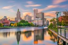 Providence, Rhode Island, USA River Skyline