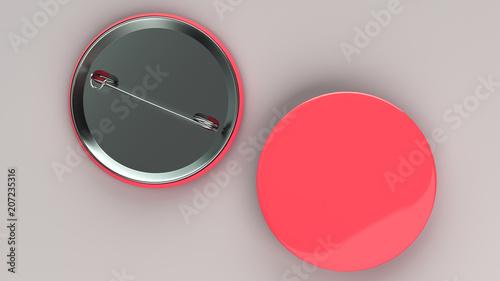 Fototapety, obrazy: Blank red badge on white background