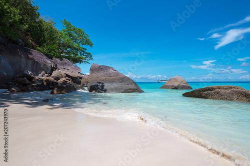 Foto op Canvas Tropical strand Rocks , sea and blue sky