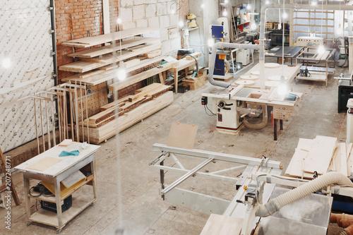 Background Image Of Empty Carpenters Workshop Production