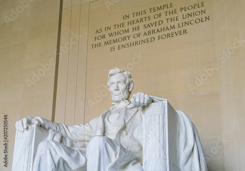 Juliste  Lincoln Memorial in the National Mall, Washington DC.