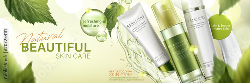Fotografía  Natural skin care products ad