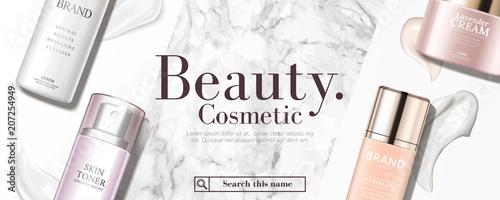 Fotografía  Cosmetic product banner ad
