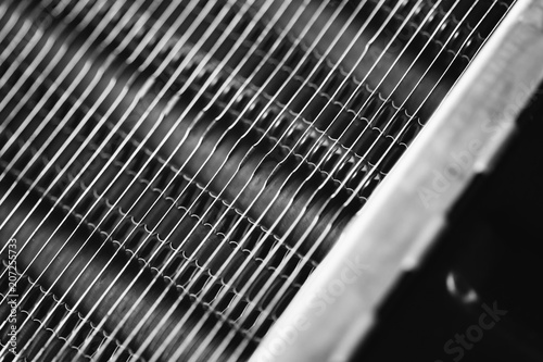 Fotografía  Part of the radiator for cooling the engine close-up