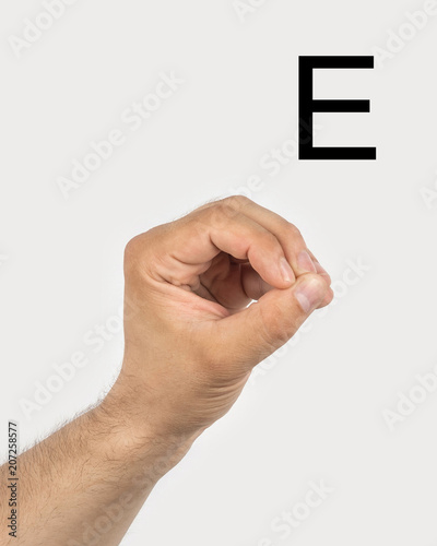 Alphabet In Russian Sign Language A Symbol 6 From 33 A Mans Hand