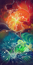 Floral Watercolor Multicolored...