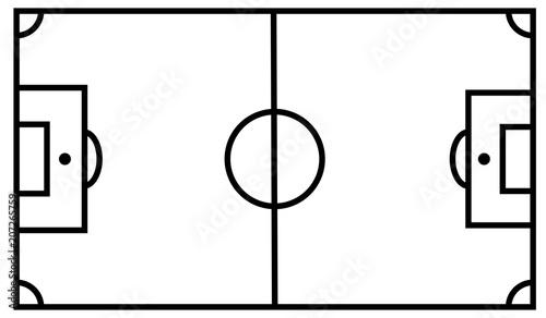Obraz Esquema de un campo de fútbol. - fototapety do salonu