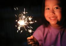 Children Enjoy With Firecracke...