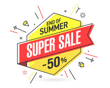 End Of Summer Super Sale Banne...