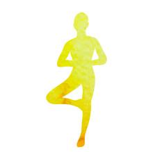 Silhouette Watercolor Girl Doing Yoga